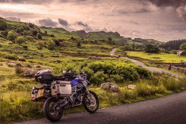 preparação de viagem de moto